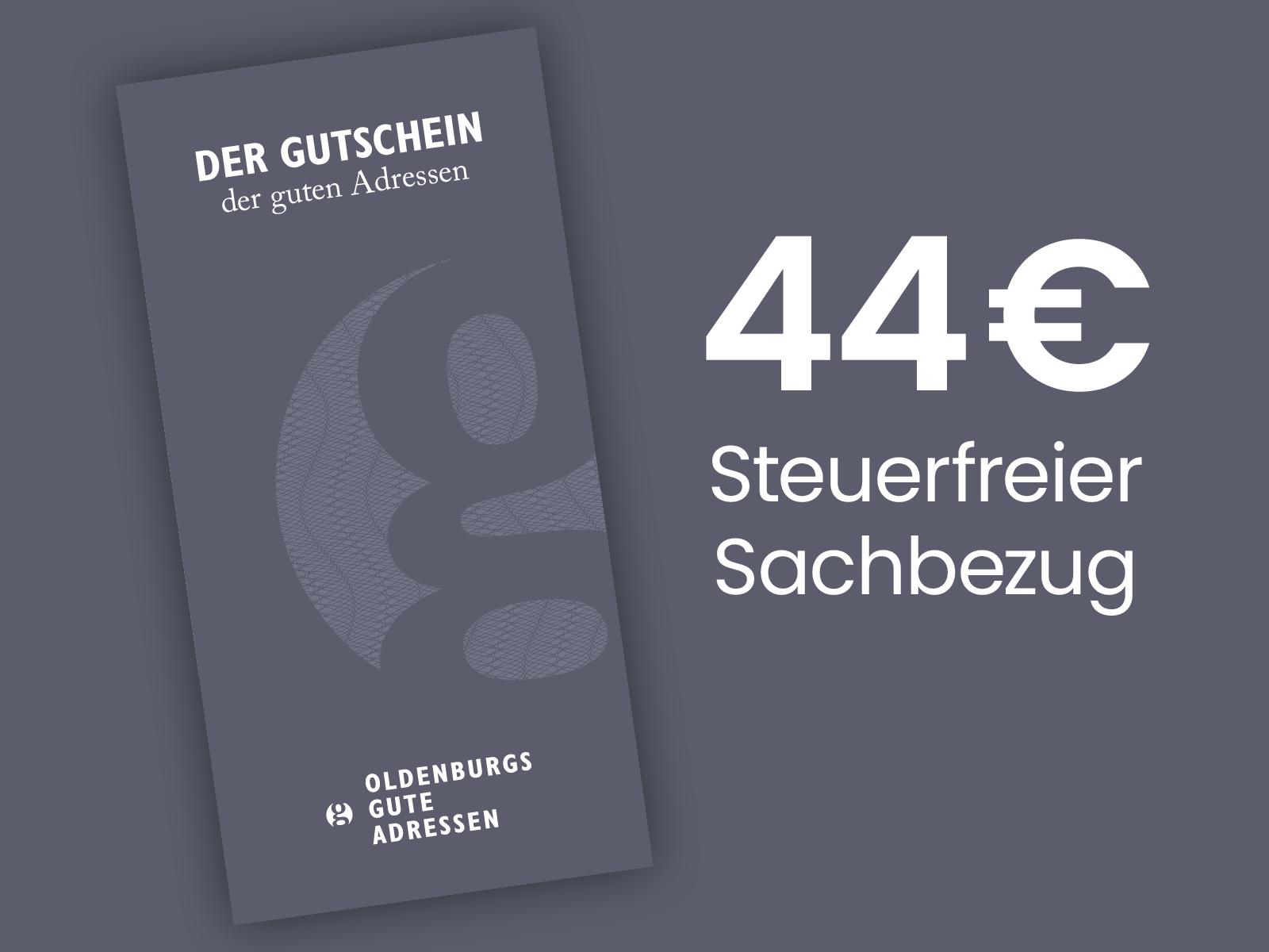 44 € Geschenkgutschein
